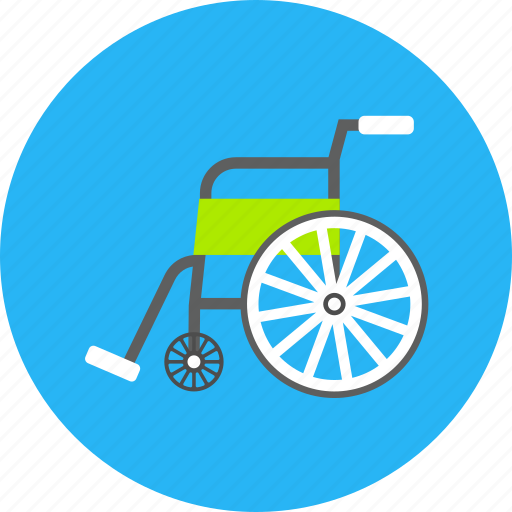armchair, chair, medical, seat, steering, wheel icon