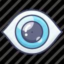 anatomy, brain, eyesight icon