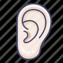 anatomy, ear, hear, listen icon
