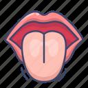 anatomy, mouth, tongue icon