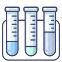 chemical, flasks, lab, test icon