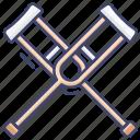 crutch, crutches, dissability, injury icon