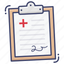 document, medical, record, report icon