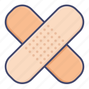 bandages, medical, patch, plaster icon