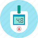 analyzes, blood, glucometer, hospital icon