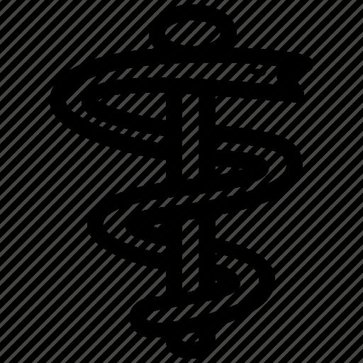 aesculapius, health, medicine, pharmaceutical, pharmacy, snakes icon