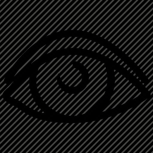 eye, human, lens, optical, view, visibility, vision icon