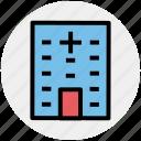 apartment, architecture, building, building exterior, hospital, real estate icon