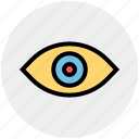 eye, eyeball, medical eye, show, view, visibility icon