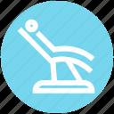 .svg, dental, dental treatment, health care, hygienist, patient, patient chair icon