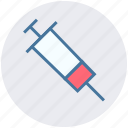healthcare, hypodermic, injection, medical syringe, syringe, vaccine icon