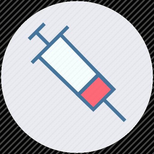 healthcare, hypodermic, injection, medical syringe, syringe, vaccine icon