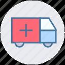 ambulance, fast, speed, transport, vehicle, velocity icon