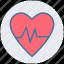 beat, ecg, graph, heart, heath care, medical icon