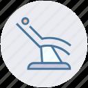 dental, dental treatment, health care, hygienist, patient, patient chair icon