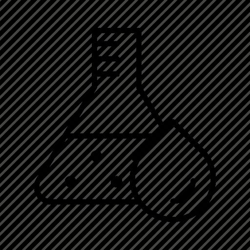 experiment, flask, lab, laboratory, lipid, thyroid icon