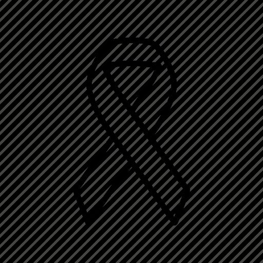 aids, ribbon, sign, solidarity icon