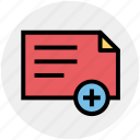 doctor report, document, medical report, medicine file, report icon