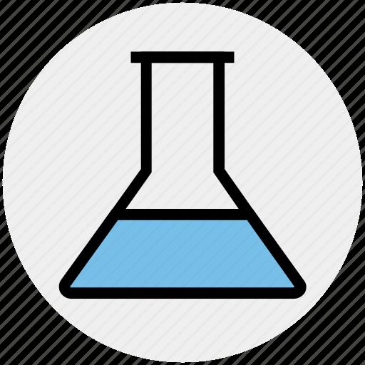 analysis, experiment, flask, laboratory test, liquid, test-tubes icon
