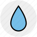 blood, drop, liquid, oil, water, wet icon
