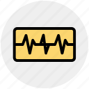 chart, graph, health, heartbeat, medical, medical graph icon