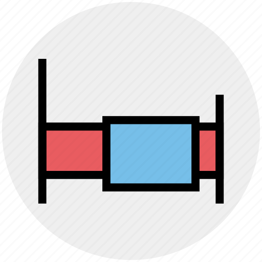 bed, bed rest, hospital, hospital bed, medical, treatment icon