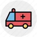 ambulance, fast, speed, transport, vehicle, velocity icon