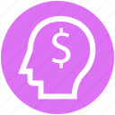 .svg, dollar, head, idea, money, thinking icon