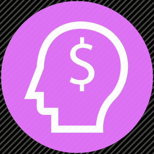 .svg, dollar, head, idea, money, thinking icon