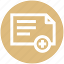 .svg, doctor report, document, medical report, medicine file, report icon