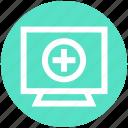 .svg, computer monitor, display, heart screen, hospital computer, medical screen, monitor icon