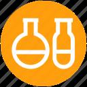 .svg, analysis, biology, biotechnology, flask, sample tubes, test tubes icon