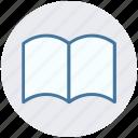 book, clinic book, medical book, open book, treatment book icon