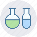 analysis, biology, biotechnology, flask, sample tubes, test tubes icon