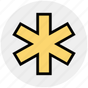 emergency, healthcare, medical, medical star, medical symbol, star of life icon