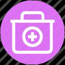 .svg, first aid box, first aid kit, hospital, medicine, medicine bag, urgency icon