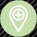 .svg, hospital map pin, location marker, location pin, location pointer, locator, map marker icon