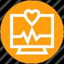 .svg, bar graph, display, heart, lcd, monitor, screen