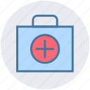 first aid, first aid kit, healthcare, medical bag, medical rescue, medicine bag icon