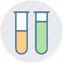 experiment, flask, laboratory test, sample tubes, test tubes, test-tubes icon