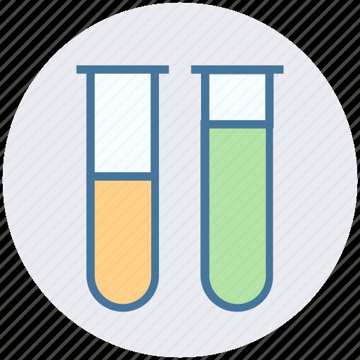 experiment, flask, laboratory test, sample tubes, test tubes, test-tubes icon