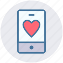 health, healthcare, heart, love, mobile, phone icon
