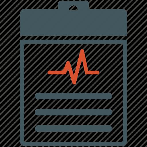 cardiogram, healthcare, medical, medical diagnosis, report icon
