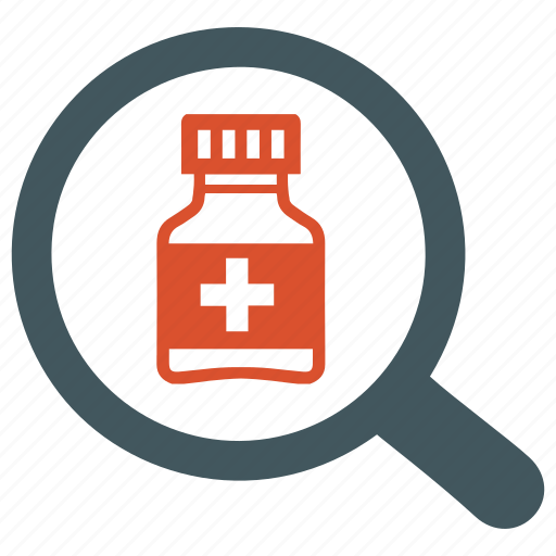 drug, find, medicine, search, tablets icon