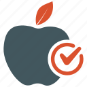 apple, diet, dietary, food, fruit, healthy, patient icon