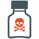 danger, poison, poisonous, skull, toxicant icon