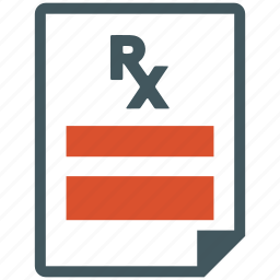drug, medicine, prescription, recipe icon