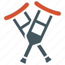 crutches, hospital, medical, supplies icon
