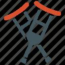 crutches, hospital, medical, supplies icon