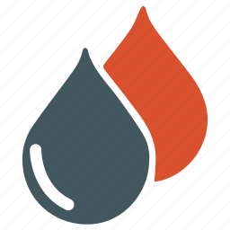 blood, drop, type icon